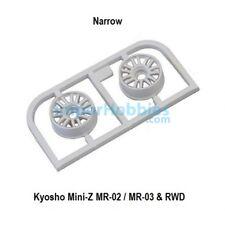 Llanta estrecha blanca Offset 2.5 (2 Uds.) Kyosho Mini-Z MR-03 / RWD MZH131W-N25