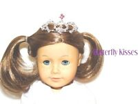 Pink & Silver Rhinestone Tiara 18 in Doll Clothes Accessory Fits American Girl