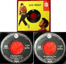 Single Elvis Presley: A Big Hunk of Love (RCA 47-7600) D Presley Firmenlochcover