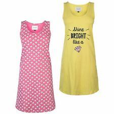Rock and Rags Two Pack Nightdress Ladies Nightdresses Scoop Neck Lightweight