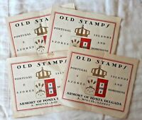 Armory of Ponta Delgada OLD STAMPS Portugal Azores Lot of 4 BOOKLETS 50 stamps *