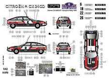 [FFSMC Productions] Decals 1/43 Citroën CX 2400 GTi Acropolis Rally 1978