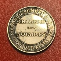 #3653 - RARE - Médaille en argent Chambre des notaires Arrondissement - RARE