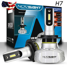 Novsight H7 Fanless LED Headlight Conversion KIT Bulbs 10000LM Xenon White 50W