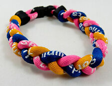 "NEW! 8"" Tornado Pink Gold Navy Blue Power Sport Balance Bracelet Loop Band Rams"