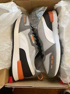 Puma Mens R78 SOFTFOAM+OPTIMAL COMFORT Sneakers Size 11.5 Grey/White/Castlerock