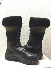 UGG ADIRONDACK TALL BLACK WATERPROOF LACE UP Boot US 8.5 / EU 39.5 / UK 7 - NEW