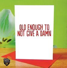O192 HAPPY BIRTHDAY MUM DAD NAN GRANDAD GREETINGS CARD RUDE FUNNY JOKE CHEEKY