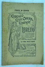 Chicago Civic Opera Company. La Cena Delle Beffe Published by Fred Rullman, Inc.