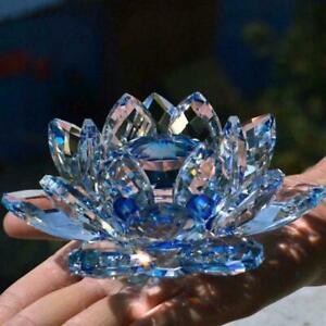 8 Colours Crystal Glass Flower Candle Tea Light stick Decor Candle V4I2