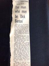 m1-5 ephemera 1949 Article Dick Barton Radio Show Audition Stanley Beard