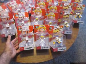 Super Mario Odyssey Wedding Bowser + Mario + Peach Amiibo LOT SET AMIIBOS