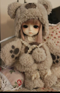 Bear Outfit By Artist Chilly Qi fits Lati Yellow Or Pukifee Doll.