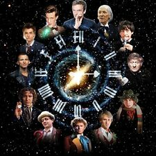 Doctor Who Clock B/W Cross Stitch Chart