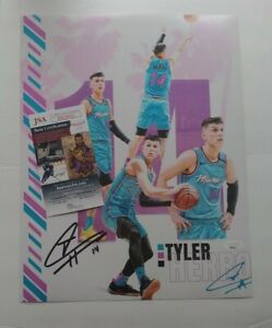 Tyler Herro Miami Heat Signed Autographed NBA Basketball Star 11x14 Photo JSA
