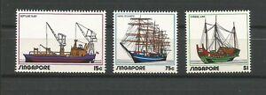 Singapour 1972 bateaux Y&TN°163 à 165 3 timbres neufs MNH /TR170