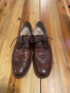 Banana Republic Wingtip Men's 9.5 M Burgundy Leather Wing Tip Oxfords Shoes