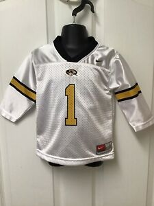 Nike Missouri Tigers Toddler Boys Girls Football Jersey White Gold 18 Months 193