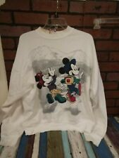 Vtg Mickey Mouse Unlimited Jerry Leigh White Sweatshirt Sweater Sz Osfa Disney