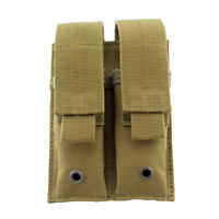 Details about  /Molle Double Magazine Pouch Holster Pistol Mag Holder for Hunting 3 Color Bag US