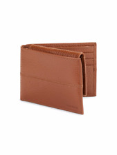 COLE HAAN Pebbled Leather Passcase Wallet Color: Cognac