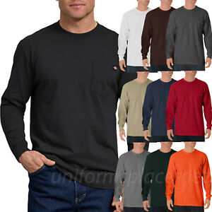 Dickies Shirts Mens Long Sleeve Tee Heavyweight Crew Neck T Shirt WL450