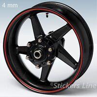 Adesivi ruote moto strisce cerchi STANDARD spess. 4mm kit generico scelta colori