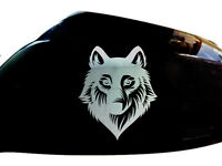 Wolf Werewolf Car Stickers Wing Mirror Styling Decals (Set of 2), Chrome