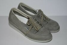Mephisto Suede Leather Gray Size 8.5 Comfort Lace Up Women Shoes