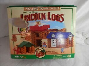 Original Lincoln Logs Prairie Town Mine Building Set 122 Pieces Substitutions