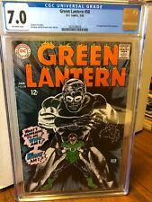 Green Lantern #58  CGC 7.0  DC 1968  Classic Gil Kane art