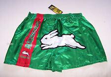 South Sydney Rabbitohs NRL Mens Green Satin Boxer Shorts Size XL New