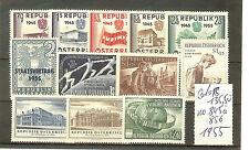 TIMBRES POSTE  AUTRICHE 1955 YVERT N° 845 A 856 SANS CHARNIERES COTE 135€