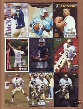52 DIFF. 1995 Steve McNair ROOKIE CARDS- Tennessee Titans Baltimore Ravens !!!!
