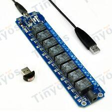 8 Channel USB/Wireless 5V Relay Module Bluetooth Remote Control Kit