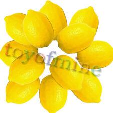 12pcs Cuisine props assiette de fruits seul faux de citron lourd plastique