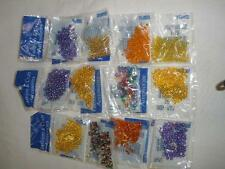 FANTASTIC LOT OF SMALL BEADS 12 BAGS ASSORTED LOT.5.CRAFTS OR JEWELLERY