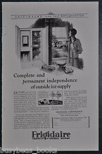 1927 Frigidaire refrigerator advertisement, large electric icebox, fridge
