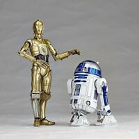 NEW Kaiyodo figure complex Star Wars REVO Revoltech R2-D2 & C-3PO Set from Japan