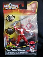 Power Rangers Megaforce Metallic Force Mighty Morphin Red Ranger Action Figure