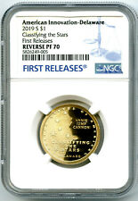 2019 S DELAWARE NGC PF70 REVERSE PROOF AMERICAN INNOVATION DOLLAR FIRST RELEASES