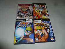 PLAYSTATION 2 GAME LOT NARUTO ULTIMATE NINJA 2 3 UZUMAKI CHRONICLES BANDAI PS2 >
