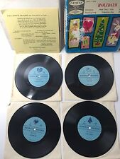 Vintage Geneva Records for the Children's Hour Holidays 78 R.P.M. 8 Sides (J)