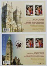 Canada 2011 Royal Wedding (2nd issue) set x 2 min. sheets fine fresh MNH