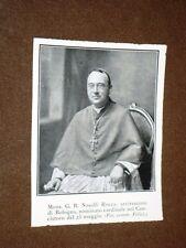 Il Cardinale Giovanni Battista Nasalli Rocca di Corneliano nel 1923