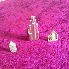 3 Art Deco Scarf Clips