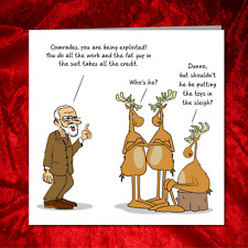 Funny Jeremy Corbyn Christmas Card humorous amusing Brexit election vote