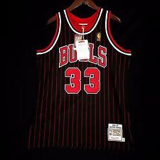 100% Authentic Mitchell Ness Scottie Pippen Bulls Pinstripe Jersey 44 L - jordan