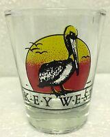 KEY WEST FLORIDA PELICAN SHOT GLASS SHOTGLASS - Pelican & Seagulls