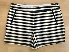 Dalia Women's Shorts Navy Ivory Striped Size 8